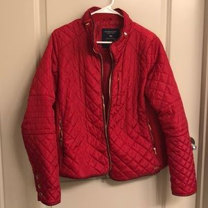 Red Quilted Coat